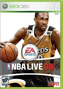 Arenas NBA Live 08 cover